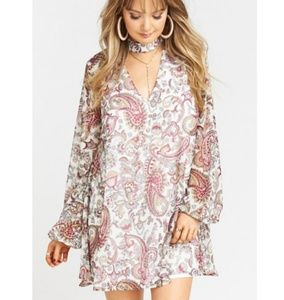 NWT Show Me Your MuMu Josephine Paisley Dress